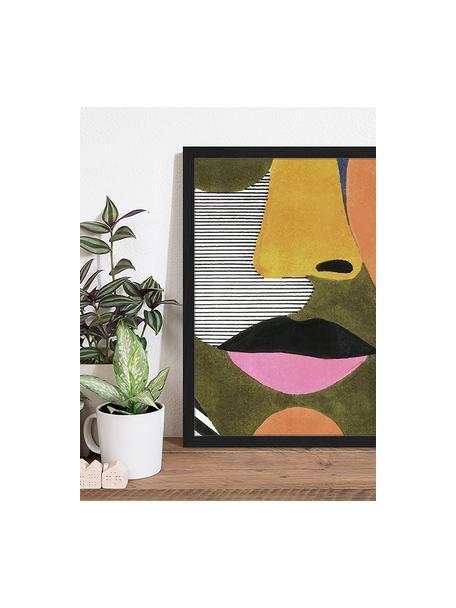 Impresión digital enmarcada Close Up Face, Multicolor, An 43 x Al 53 cm