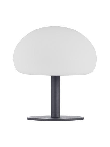 Mobile Dimmbare Außentischlampe Sponge, Lampenschirm: Kunststoff, Lampenfuß: Metall, beschichtet, Weiß, Schwarz, Ø 20 x H 22cm