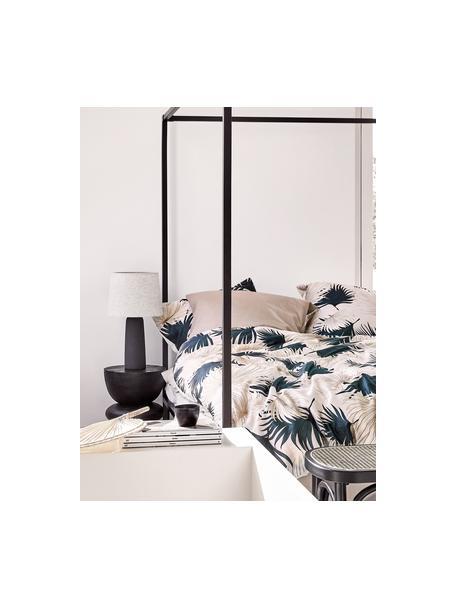 Lámpara de mesa grande de cemento Kaya, Pantalla: 80%algodón, 20%lino, Cable: cubierto en tela, Beige, gris oscuro, Ø 29 x Al 52 cm