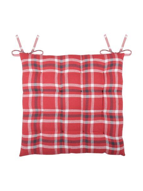Poduszka na siedzisko Teddybear, Czerwony, czarny, biały, S 40 x D 40 cm