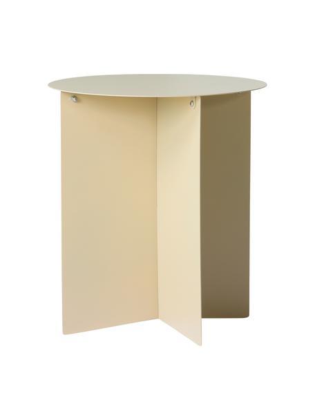 Runder Metall-Beistelltisch Dinga in Cremefarben, Metall, pulverbeschichtet, Cremefarben, Ø 40 x H 45 cm