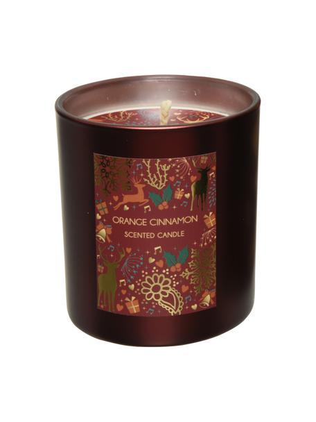 Duftkerze Cinnamon H 11 cm (Orange & Zimt), Behälter: Glas, Behälter: Braun, Ø 8 x H 11 cm