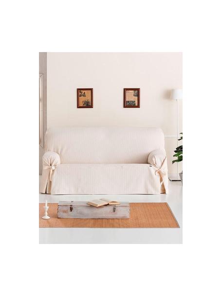 Copridivano Bianca, 100% cotone, Color crema, Larg. 160 x Alt. 110 cm