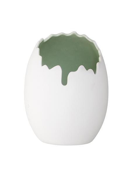 Vaso in porcellana bianca Rona, Porcellana, Bianco, Ø 13 x Alt. 17 cm