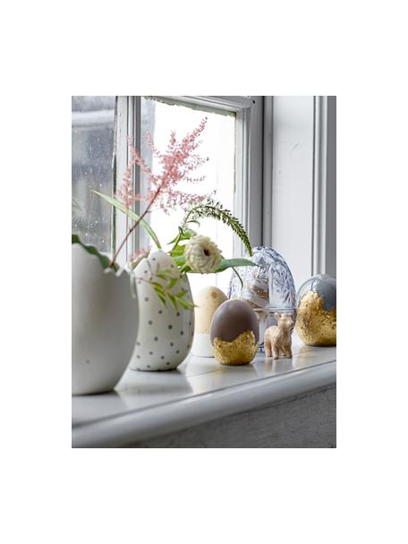 Jarrón de porcelana Rona, Porcelana, Blanco, Ø 13 x Al 17 cm