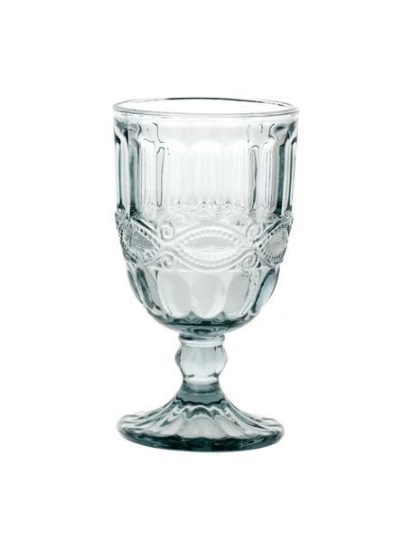 Weingläser Solange mit dekorativem Relief, 6 Stück, Glas, Transparent, Ø 8 x H 15 cm