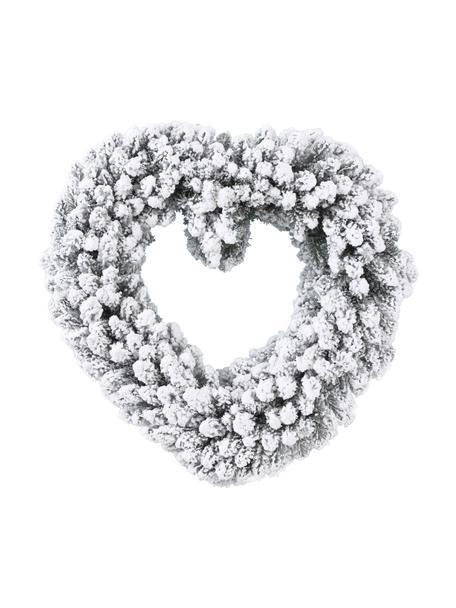 Ghirlanda di Natale Moly, Ø50 cm, Materiale sintetico, Bianco, Ø 50 x Alt. 8 cm
