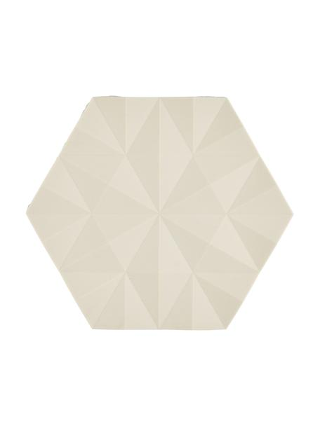 Salvamanteles Ori, 2uds., Silicona, Arena, L 16 x An 14 cm