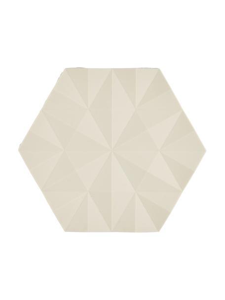 Topfuntersetzer Ori in Sandfarben, 2 Stück, Silikon, Sandfarben, 14 x 16 cm