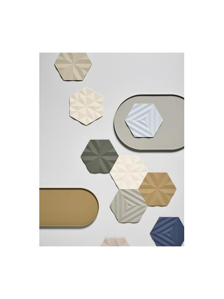 Sottopentola Ori 2 pz, Silicone, Sabbia, bianco crema, Lunghezza 16 cm x profondità 14 cm