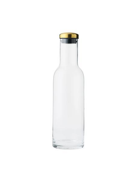 Bottiglia in vetro con tappo dorato Deluxe, 1 L, Trasparente, Alt. 29 cm