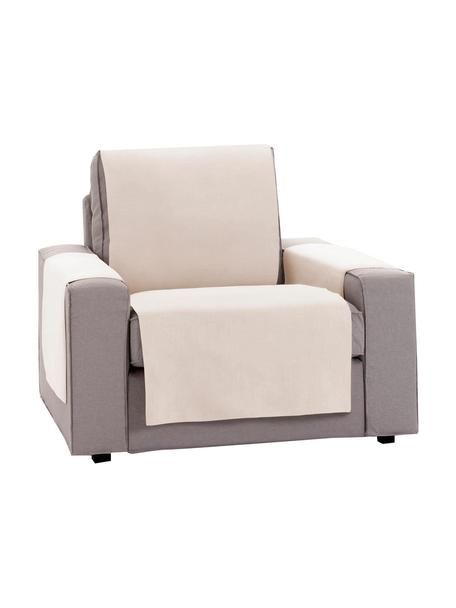 Funda de sillón Levante, 65%algodón, 35%poliéster, Beige, An 55 x L 220 cm