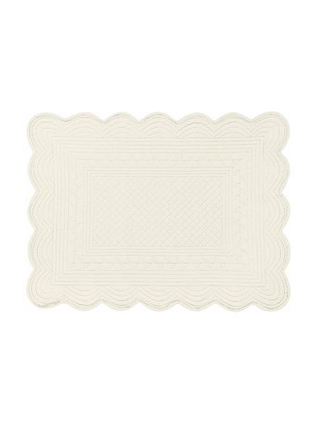 Katoenen placemats Boutis, 2 stuks, 100% katoen, Ivoorkleurig, 34 x 48 cm