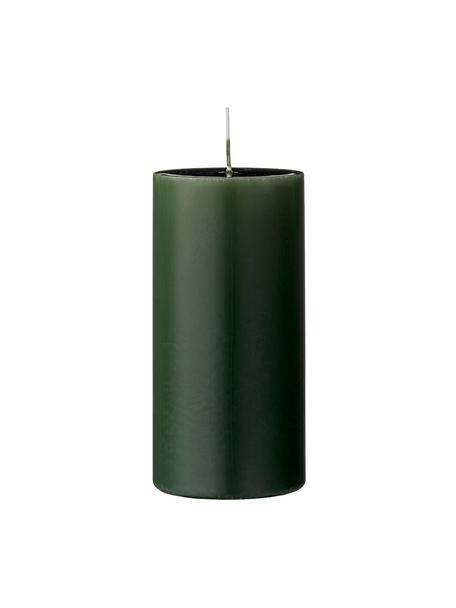 Stumpenkerzen Lulu, 2 Stück, Wachs, Waldgrün, Ø 7 x H 15 cm