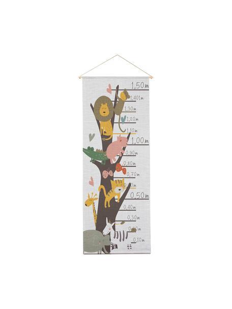 Medidor altura Animals, Poliéster (microfibra), Multicolor, An 40 x Al 155 cm