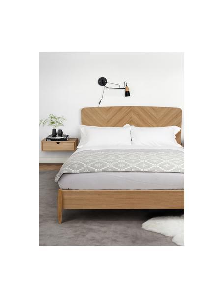 Szafka nocna ścienna z szufladą Farsta, Płyta pilśniowa średniej gęstości z fornirem z drewna dębowego, Drewno dębowe, S 40 x W 15 cm