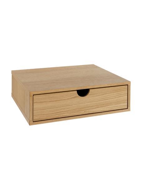Szafka nocna ścienna Farsta, Płyta pilśniowa średniej gęstości z fornirem z drewna dębowego, Drewno dębowe, S 40 x W 15 cm