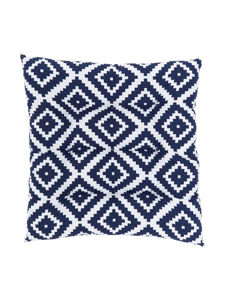 Cojín de asiento Miami, Funda: 100%algodón, Azul, An 40 x L 40 cm