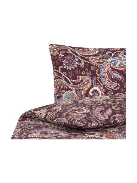 Pościel z bawełny Liana, Bordowy, 135 x 200 cm + 1 poduszka 80 x 80 cm