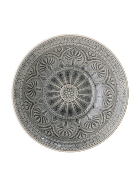 Bol artesanal Rani, estilo marroquí, Gres, Gris oscuro, Ø 27 x Al 8 cm
