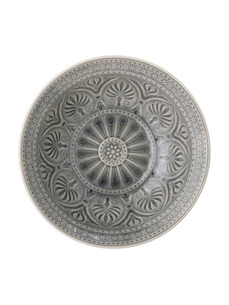 Handgemaakte schaal Rani in Marokkaanse stijl, Ø 27 cm, Keramiek, Grijs, Ø 27 x H 8 cm