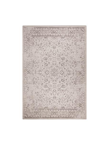 In- & outdoor vloerkleed Orient in vintage stijl, 100% polypropyleen, Grijstinten, B 80 x L 150 cm (maat XS)