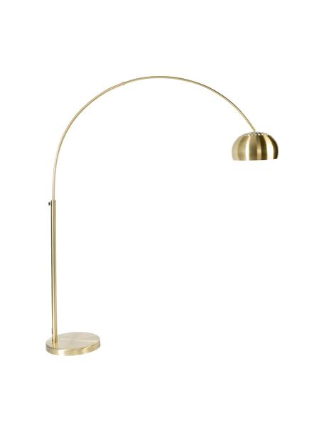Grosse Bogenlampe Metal Bow in Gold, Lampenschirm: Metall, vermessingt, Gestell: Metall, vermessingt, Messingfarben, 170 x 205 cm