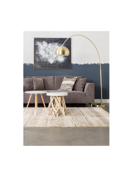 Lampa podłogowa w kształcie łuku z metalu Bow, Stelaż: metal mosiądzowany, Odcienie mosiądzu, S 170 x W 205 cm