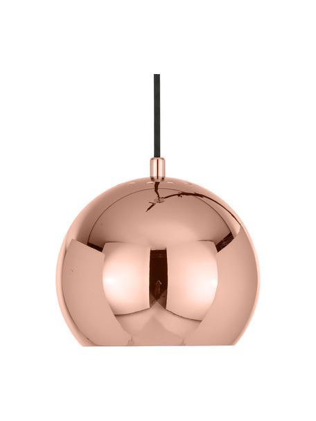 Kleine bolvormige hanglamp  Ball, Gecoat metaal, Koperkleurig, Ø 18  x H 16 cm