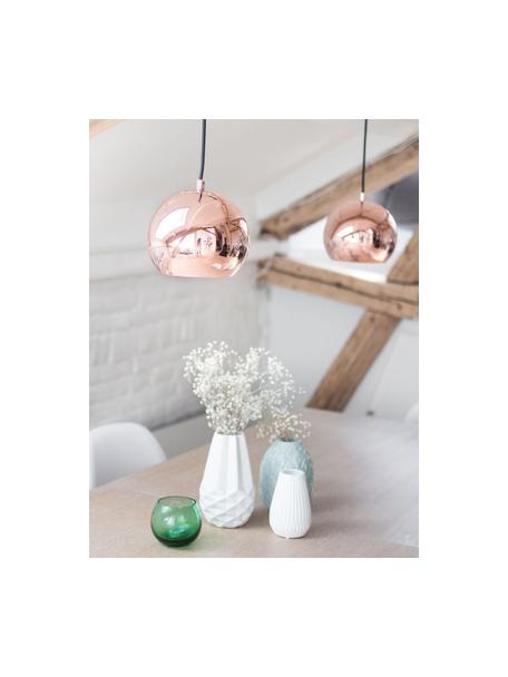 Lámpara de techo pequeña Ball, Pantalla: metal recubierto, Anclaje: metal recubierto, Cable: cubierto en tela, Cobre, Ø 18 x Al 16 cm