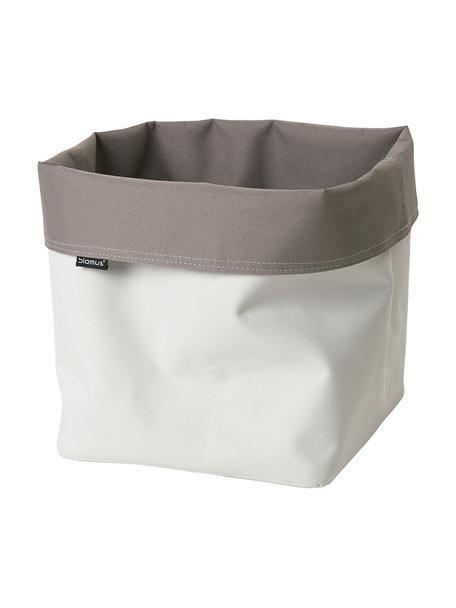 Cestino Ara, Rayon, Taupe, bianco, Ø 23 x Alt. 26 cm