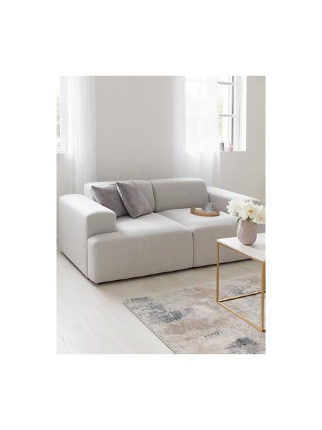 Sofa Melva (2-Sitzer) in Hellgrau, Bezug: 100% Polyester Der hochwe, Gestell: Massives Kiefernholz, FSC, Webstoff Hellgrau, B 198 x T 101 cm