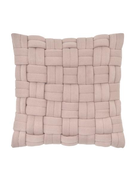 Poszewka na poduszkę Norman, Brudny różowy, S 40 x D 40 cm