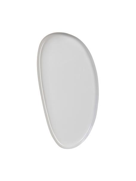 Decoratief dienblad Imperfect, L 21 x B 11 cm, Gecoat metaal, Grijs, 11 x 21 cm