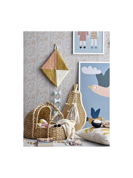 Łóżeczko dla lalek Stephie, Trawa bankuan, metal, Beżowy, S 44 x W 39 cm