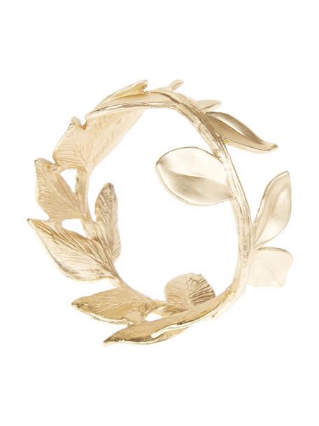 Portatovaglioli dorato Owl 4 pz, Metallo rivestito, Ottonato, Ø 5 x Alt. 3 cm