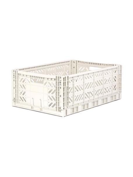Klappbox Coconut, stapelbar, gross, Recycelter Kunststoff, Gebrochenes Weiss, 60 x 22 cm