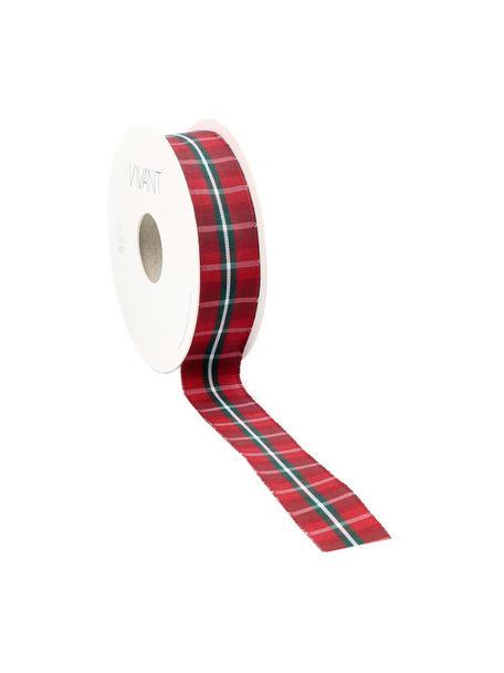 Nastro Scotch, 98% poliestere, 2% filo, nichelato, Rosso, bianco, verde, Larg. 3 x Lung. 1500 cm