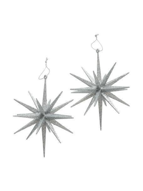 Breukvaste kerstboomhangersset Tove Ø 15 cm, 2-delig, Zilverkleurig, Ø 15 x H 15 cm