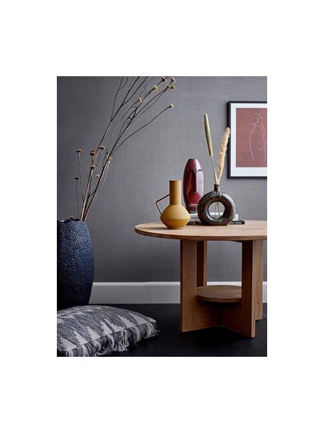 Metall-Vase Lioba, Metall, beschichtet, Gelb, 13 x 21 cm