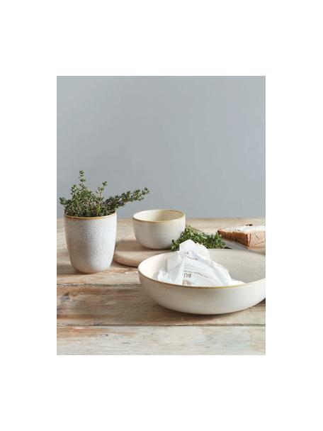 Bekers Saisons van keramiek in beige, 6 stuks, Keramiek, Beige, Ø 9 x H 10 cm