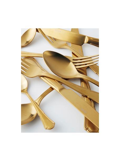 Set 24 posate dorate in acciaio inox per 6 persone Bite, Acciaio inossidabile, Dorato, Set in varie misure