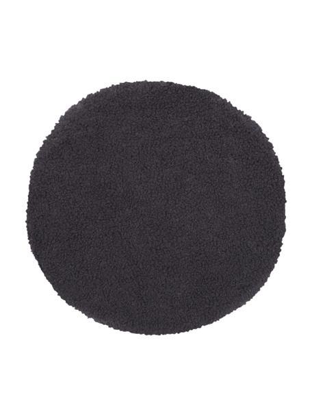 Teddy-Sitzauflage Mille, Vorderseite: 100% Polyester (Teddyfell, Rückseite: 100% Polyester, Dunkelgrau, Ø 37 cm