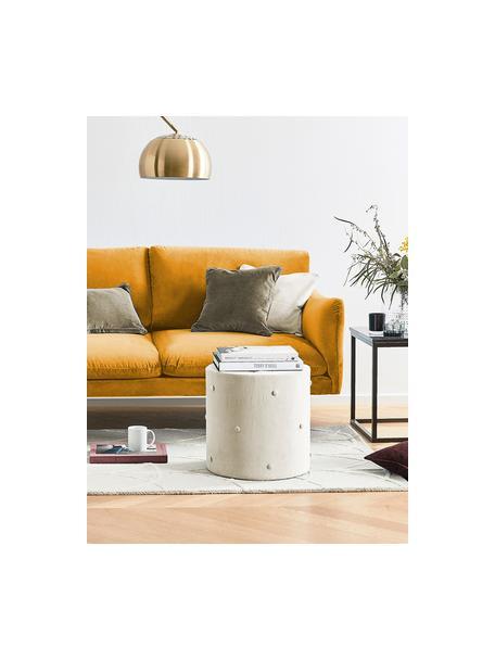 Fluwelen hoekbank Moby in mosterdgeel met metalen poten, Bekleding: fluweel (hoogwaardig poly, Frame: massief grenenhout, Poten: gepoedercoat metaal, Fluweel mosterdgeel, B 280 x D 160 cm