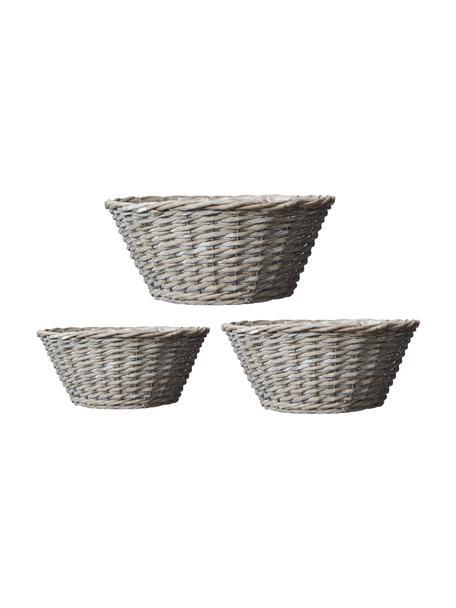 Ovales Pflanzschalen-Set Minna, 3-tlg., Beige, Set mit verschiedenen Größen