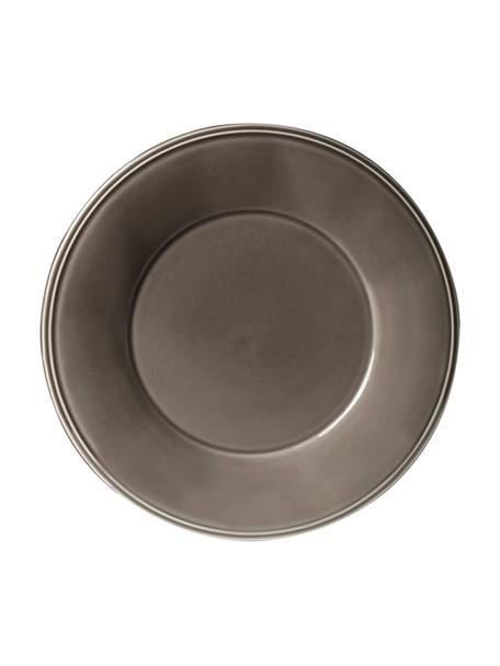 Talerz śniadaniowy Constance, 2 szt., Kamionka, Brązowy, Ø 24 cm