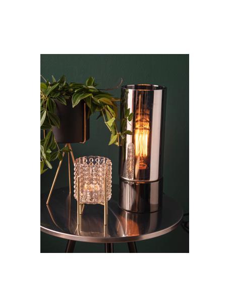 Komplet małych osłonek na doniczkę z metalu Pedestal, 2 elem., Metal lakierowany, Czarny, Komplet z różnymi rozmiarami