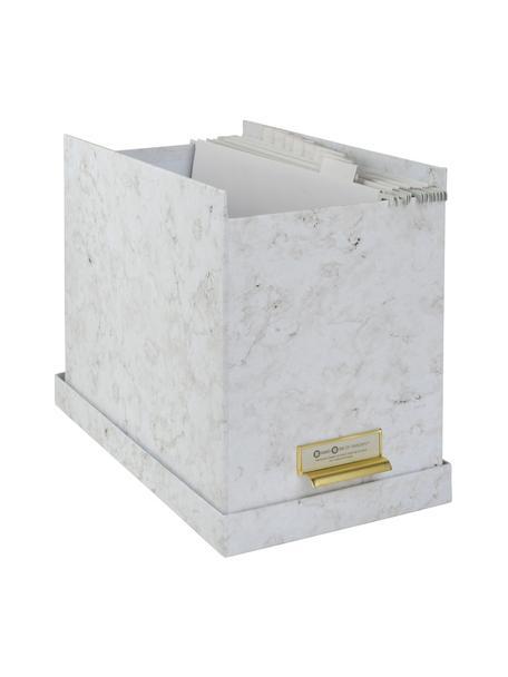 Caja organizadora Jahan, 9pzas., Organizador: cartón laminado, Mármol blanco, An 19 x Al 27 cm