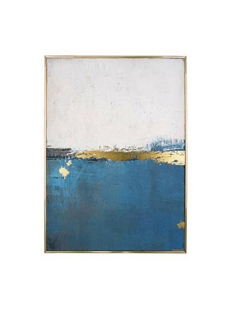 Cuadro sobre lienzo Bold, Parte trasera: madera de pino, Multicolor, An 67 x Al 95 cm