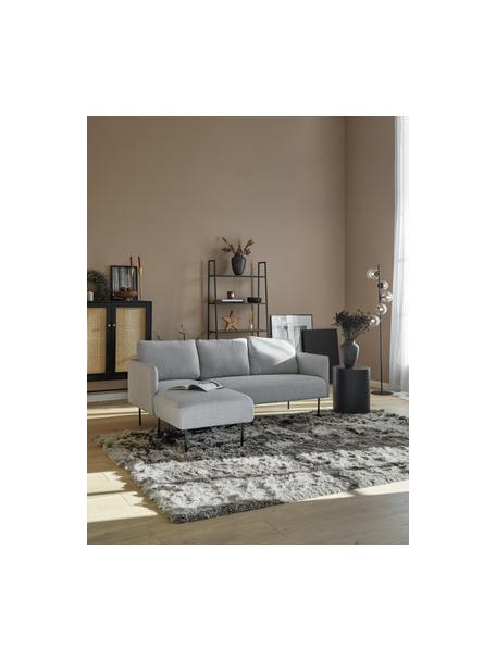Glänzender Hochflor-Teppich Jimmy in Hellgrau, Flor: 100% Polyester, Hellgrau, B 200 x L 300 cm (Größe L)